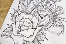 relógio e  bússola