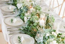 floral table runners