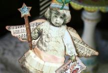 Paper Dolls / paper art dolls / by Labedzki-Art