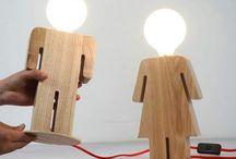 Wooden lamps design