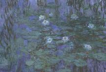 Claude Monet Ruled journals / Ruled/ lined journals. Cover image: paintings by Claude Monet. French painter.