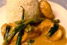Thai, Indian , Asian food .