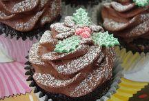 Christmas cakes cupcakes