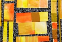 Journal Quilts using artists work for inspiration / 12 x 12 quilts based on a specific artist and a fabric