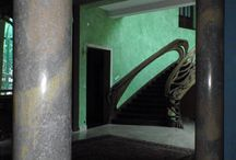 Secesja,Art Nouveau -Adamkk Stucco Marmo / trzony kolumn jeszcze bez baz i głowic z brązu...
