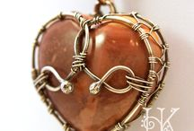 Heart-shaped stone wraps