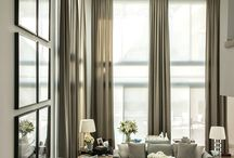 Window treatments / From Roman Blinds, Casual sheer curtains through to formal linen drapes, find lots of inspiration here for window dressings for your home.