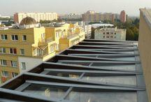 skleněná střecha - glass roof