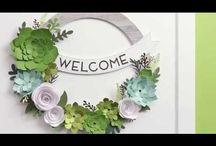 Welcome Wreath CTMH