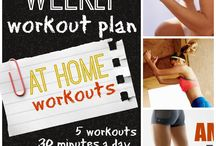 Weekly Workout Plans / by Tone and Tighten