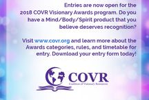 2018 #COVR Visionary Awards / Each year COVR gives Visionary Awards to entries selected from among the best new products in the Mind/Body/Spirit marketplace. Our Visionary Awards are the only awards of their kind in our industry. Our retailers are passionate about new products, the next best seller, and the next undiscovered gem. Help them find you and give them a reason to put your book, music, or product in their stores.