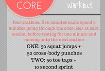 Core workouts / core-burning workouts with minimal equipment