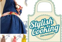 Aprons - Stylish Cooking / Stylish Cooking International A beautiful way to enjoy the pleasures of cooking ♥ http://www.facebook.com/stylishcooking.international Aprons specially designed so that the art of cooking may also be in style and beauty.. Matching grown ups & little ones for the delicious and memorable family adventures in the kitchen. You will find vintage, daring, chics or romantic collections, but all individually designed and made for you.  Hand Made Ships worldwide from Florida, USA & Portugal  ♥