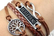 pulseiras de couro com pingentes