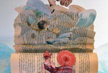 Material - böcker/altered books / altered books