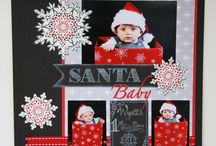 CHRISTMAS & ANTIQUE SCRAPBOOK PAGES