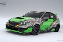 SG Sport Rally Team - R. Pritzl (Subaru Impreza) / Design and wrap.