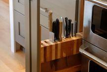 wzory układów szafek do kuchni