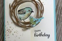 Cards - StampinUp Birds & Blooms