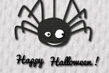 Halloween made of fabric / We played with our fabrics and we created some funny Halloween friend! Do you like them?