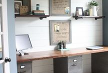 Home Office & Craft Rooms / Oh how I dream of having a gorgeous craft room and office at home! One day I will, but for now I'll just have to drool over these ones! Also featuring craft room/office organisation and products.