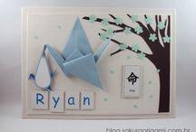 ღ enfeite de porta de maternidade ღ / Enfeite de porta maternidade feito com origami! Detalhes especiais e pensados com carinho :)