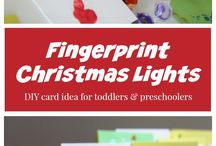 Toddler Christmas Cards / Want to create Xmas cards with your little one? Check this board out!