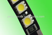 PA 12v Car Motorcycle lights double side 6*5050 w5w t10 canbus smd led
