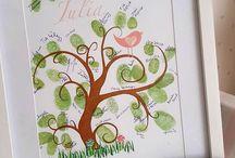 Finger Tree feitas por mim / Finger Tree feitas por mim Para a maternidade ou para presentear alguém especial