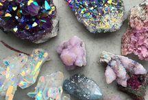 Iridescent Crystals / aura crystals | opals | moonstone