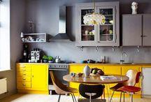 Серо- желтый интерьер