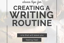 On creating a writing routine