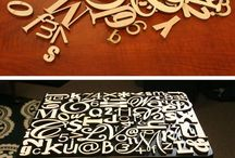 Furniture lettering