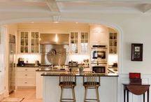 Kitchen living room transition