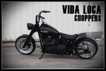 "Softail Harley ""Night Train 330"" Designed by Vida Loca Choppers / Softail Harley Night Train 330 Designed by Vida Loca Choppers in 2014"