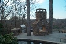 Outdoor Fireplaces and Firepits / A sampling of many of ARNOLD Masonry and Landscape's outdoor fireplace and firepit projects throughout Metro Atlanta.
