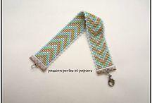bracelet perles tissé