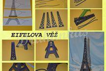 Eifelova věž z fondánu