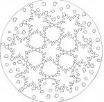 Winter mandala coloring pages for kids / This page has a lot of winter,snowman,snowflake,snow mandala for kids.