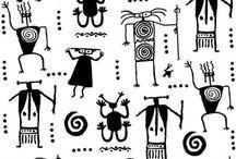 Diseños indigenas vectores