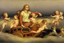 Goddess Freya / A Nordic goddess of fertility, celebration and passion. Freya rides in a chariot pulled by mighty cats the rainbow bridge connecting Heaven and Earth. For me this Goddess is courage and boldness.