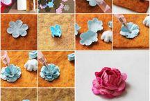 Flowers / z papíru,stuhy