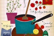 Illustration : food and kitchen