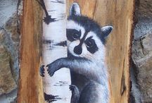 Wood painting ideas