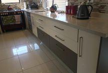 Two tone kitchens