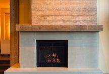 Transitional Fireplaces