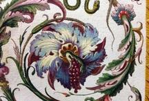 орнаменты и рисунки растений и животных