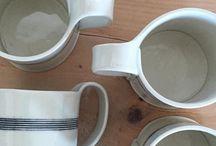 Taylor Ceramics Instagram A gift for a new homeowner, just shipped out.  #mugshotmonday #porcelain #handmademugs #ceramicmugs #stripes
