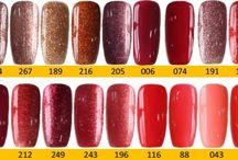 Q1T Professional UV nail polish- Red & brown shades