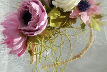 fiori seta ,carta, raso,tessuto